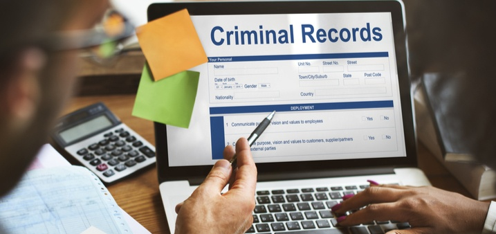 Criminal records on computer