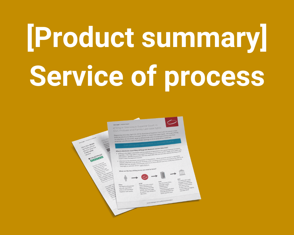 Service of process factsheet
